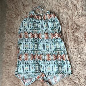Patterned, romper from aeropostale